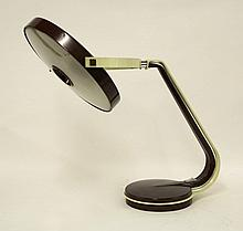 A Fase Lupela 'Giro' desk lamp, with cream and