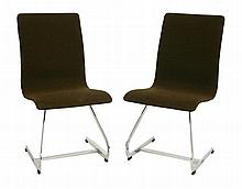 A pair of Merrow Associates side chairs, the