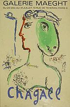 After Marc Chagall, AN EXHIBITION POSTER FOR