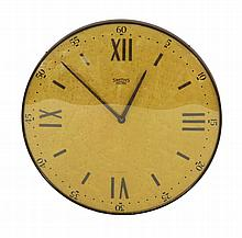 A Smith's 'Sectric' bird's-eye maple wall clock,