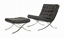 After Mies van der Rohe, a Barcelona chair and
