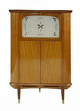 A Danish mahogany corner cocktail cabinet, with a