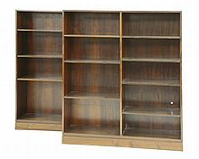 A pair of Danish rosewood bookcases, model no.