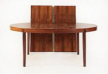 A Danish rosewood dining table, 1960s, by Randers
