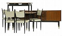 A G-Plan dining room suite, designed in 1958, each