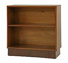 An Art Deco walnut open bookcase, by Gordon
