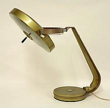 A Fase Lupela 'Giro' desk lamp, with a two-tone