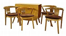 An oak dining suite, 1950s, by Greaves & Thomas,