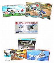 Six plastic Aircraft Kits