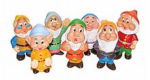 The Seven Dwarfs plastic Squeaking Dolls