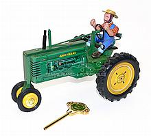 Franklin Mint tinplate clockwork John Deere Model