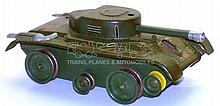 West German tinplate Tank