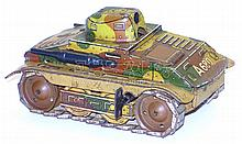 German tinplate clockwork Tank