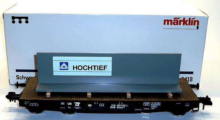 Marklin 1-gauge 5418 Bogie Flat Car