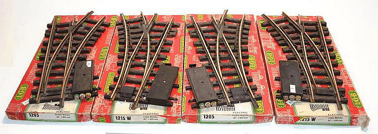 Four LGB early 1-gauge Electric Points