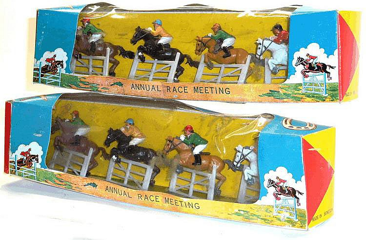 Two Boxed Sets of plastic Jumping Horse Figures