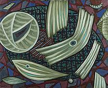 Henri GOETZ (1909-1989)  SANS TITRE, 1987  Huile sur toile  Signée en bas à gauche et annotée Goetz 1987, au verso  60 x 73CM