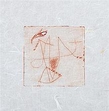 CHAR René. De moment en moment. Alès, PAB, 1957; in-16 carré (118 x 118mm) de 2 ff. bl., [8] ff., 2 ff. bl., couverture imprimée.
