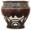 ALBERT LOUIS DAMMOUSE(1848-1926) &ERNEST CARDEILHAC (Orfèvre) An enamelled stoneware potbellied vase, Sèvres, circa 1905-1909, probably