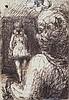 ƒ Malcolm Mc Kesson (1909-1999) Sans titre, vers 1978 Stylo-bille sur papier 14 x 10cm