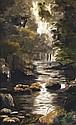 Alfred GUILLOU (1844-1926) Rivière Huile sur toile Signée en bas à gauche 30 x 20cm