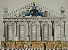 Antoine CHAZAL (Paris 1793-1854) Derniers tirages des loteries de France Plume et encre brune, aquarelle gouachée 42 x 56cm Signé en...