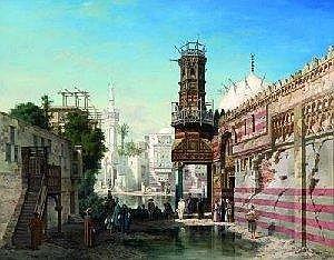 Adrien Dauzats (1804-1868) Mosquee au Caire