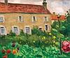 Albert Marquet (1875-1947) Le manoir d'ousson, Loire 1946 Huile sur panneau Signée en bas à droite 21,5 x 27 cm