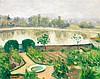 Albert Marquet (1875-1947) Le jardin du manoir, Ousson, Loire 1946 Huile sur toile marouflée sur carton Signée en bas à gauche 22 x ...
