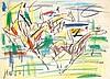 GEN PAUL (Eugène Paul dit) (1895-1975) Cavaliers Crayolors sur papier Signé en bas à gauche 29 x 39 cm
