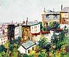 Élisée Maclet (1881-1962) La butte de Montmartre Huile sur panneau Signée en bas à droite 45 x 54,5 cm