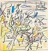 GEN PAUL (Eugène Paul dit) (1895-1975) Cavaliers Crayolors sur papier Signé en haut à droite 40 x 38 cm