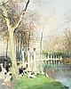 Jules René Hervé (1887-1981) PARC MONCEAU Huile sur toile Signée en bas à droite 73 x 60 cm