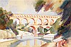 André Lhote (1885-1962) Le pont du Gard, 1923 Gouache sur papier Signée en bas à droite 36,5 x 54 cm