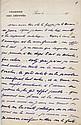 Maurice BARRES. 1862-1923. Écrivain, figure du nationalisme. L.A.S. à son cher Nolent et note aut. s.d. (19--). 1 pp. in-12 et 4 pp....