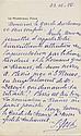 Ferdinand FOCH. 1851-1929. Maréchal de France. L.S. et 7 L.A.S. à Barthou, C.V. 1922, 1926-1928. 9 pp. in-8 sur papier en-tête du ma...