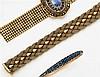 Bracelet souple en or jaune formé d'une tresse. Travail italien des années 1970. Poids brut : 46 gr. DImensions : 18,3 x 1,8 cm A go...