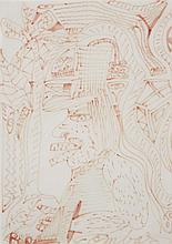 Robert Combas (né en 1957)RSans titreRFelt-tip pen on paperRSigned lower rightR29 x 21 cmR11 3/8 x 8 1/4  in.