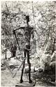 GYULA HALASZ, Dit BRASSAÏ (1899-1984) Don Quichotte, sculpture de Germaine Richier, vers 1950 Épreuve argentique, portant le cachet ...
