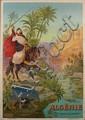 Affiche F. HUGO D'ALESI ALGÉRIE, LES GORGES D'EL KANTARA Algeria, the Gorges of El Kantara Paris, circa 1900. DIM. 104 X 74 CM (41 X...