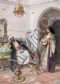 ACHILLE BUZZI (XIXe-XXesiècle) LA MUSICIENNE ET LE FUMEUR The Musician and the Smoker Aquarelle sur papier, signée en bas à gauche