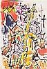 GEN PAUL (Eugène Paul dit) (1895-1975) Le saxophoniste Pastel et feutre sur papier Signé en haut à gauche 45 x 31cm