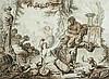 École française de la fin du XVIIIesiècle Bacchanale Plume et encre noire, lavis brun et lavis gris 28,5 x 38,5cm Drawings Quelque...