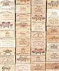 Ensemble de 12 bouteilles 3 bouteilles LA CHAPELLE DE LAFAURIE, Sauternes 1996 1 bouteille Château HAYOT AUDOYSSE, Ste-Croix-du-Mont...