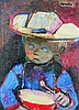 ƒRaymond Kanelba (1897-1960)  Oil on cardboard Signed upper right  - 16 1/8 x 12 in
