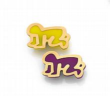Keith HARING Deux broches