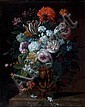 Gaspar Pieter II Verbruggen Le Jeune (Anvers 1664 - 1730) Bouquet de fleurs dans un vase de bronze sur un entablement Toile 81,5 x 6..., Gaspar-Pieter The Younger Verbruggen, Click for value