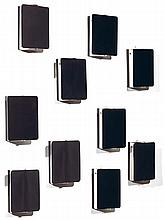 CHARLOTTE PERRIAND (1903-1999) A set of six wall lamps. Length. 7 1/8 in. - Width. 4 7/8 in. - Depth. 2 3/8 in.