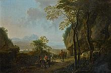 Attribué à Jan BOTH (1610-1652) La halte des cavaliers à l'orée de la forêt Toile 74,5 x 109 cm Porte un monogramme en bas à droite ...