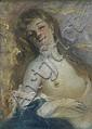 CHARLES CHAPLIN (1825-1891) LE MODÈLE Pastel et crayon sur papier Signé en bas à gauche 40 X 29 CM